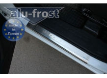 Накладки на пороги Fiat Doblo II Cargo Maxi /2009+/. Накладки порогов Фиат Добло [Alu-Frost]