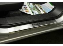 Накладки на пороги Fiat Doblo II Cargo Maxi /2009+/. Накладки порогов Фиат Добло [NataNiko]