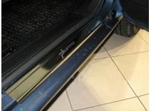 Накладки на пороги Fiat Punto III (199) /Хэтчбек, 2005+/. Накладки порогов Фиат Пунто [NataNiko]