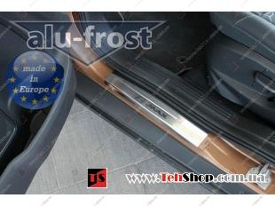 Накладки на пороги Ford B-Max /2012+/. Накладки порогов Форд Би-Макс [Alu-Frost]