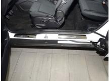 Накладки на пороги Ford B-Max /2012+/. Накладки порогов Форд Би-Макс [NataNiko]