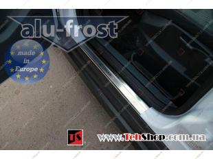 Накладки на пороги Ford C-Max II /2010+/. Накладки порогов Форд Ц-Макс [Alu-Frost]