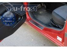 Накладки на пороги Ford Fiesta V /3D, 2002-2008/. Накладки порогов Форд Фиеста [Alu-Frost]