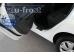 Накладки на пороги Ford Fiesta VI /2008-2016, Хэтчбек/. Накладки порогов Форд Фиеста [Alu-Frost]