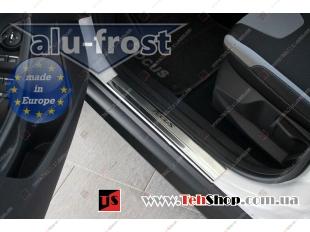 Накладки на пороги Ford Focus III /2011+/. Накладки порогов Форд Фокус [Alu-Frost]