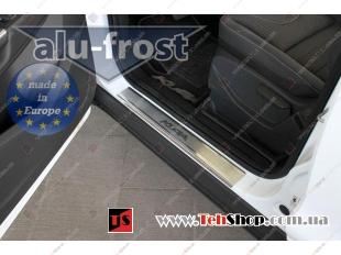 Накладки на пороги Ford Kuga II /2013+/. Накладки порогов Форд Куга [Alu-Frost]