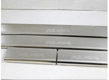 Накладки на пороги Ford Kuga II /2013+/. Накладки порогов Форд Куга [NataNiko]