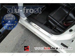Накладки на пороги Honda Accord VIII /2008-2012/. Накладки порогов Хонда Аккорд [Alu-Frost]