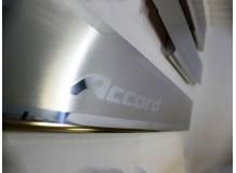 Накладки на пороги Honda Accord VIII /2008-2012/. Накладки порогов Хонда Аккорд [NataNiko]