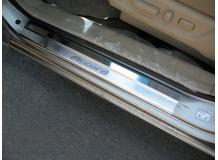 Накладки на пороги Honda Accord VIII /2008-2012, USA/. Накладки порогов Хонда Аккорд [NataNiko]