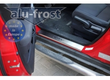Накладки на пороги Honda CR-V III /2007-2012/. Накладки порогов Хонда ЦР-В [Alu-Frost]