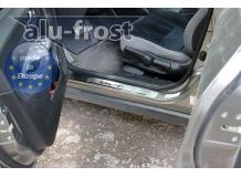 Накладки на пороги Honda Civic VIII /2006-2011, Хэтчбек/. Накладки порогов Хонда Цивик [Alu-Frost]