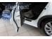 Накладки на пороги Honda Civic IX /2012-2015, Хэтчбек/. Накладки порогов Хонда Цивик [Alu-Frost]