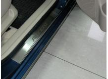 Накладки на пороги Hyundai Accent III (MC) /2006-2010/. Накладки порогов Хюндай Акцент [NataNiko]