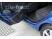 Накладки на пороги Hyundai Accent IV (Solaris) /2011-2017/. Накладки порогов Хюндай Акцент [Alu-Frost]