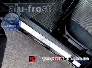 Накладки на пороги Hyundai Elantra HD /2006-2010/. Накладки порогов Хюндай Элантра [Alu-Frost]