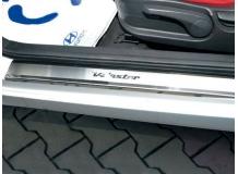 Накладки на пороги Hyundai Veloster /2011+/. Накладки порогов Хюндай Велостер [NataNiko]