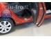 Накладки на пороги Hyundai i10 I /2007-2013/. Накладки порогов Хюндай i10 [Alu-Frost]