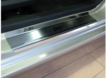 Накладки на пороги Hyundai i10 I /2007-2013/. Накладки порогов Хюндай i10 [NataNiko]