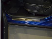 Накладки на пороги Hyundai i20 I /Хэтчбек, 2008-2014/. Накладки порогов Хюндай i20 [NataNiko]