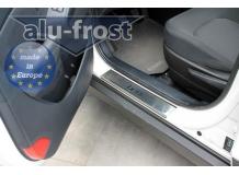 Накладки на пороги Hyundai ix35 /2010+/. Накладки порогов Хюндай ix35 [Alu-Frost]