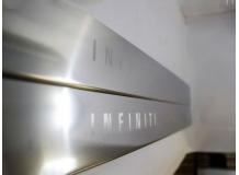 Накладки на пороги Infiniti Q60 (V36) /3D, 2013+/. Накладки порогов Инфинити Q60 [NataNiko]