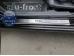 Накладки на пороги Kia Rio II /2005-2011/. Накладки порогов Киа Рио [Alu-Frost]