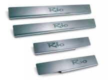 Накладки на пороги Kia Rio II /2005-2011/. Накладки порогов Киа Рио [NataNiko]