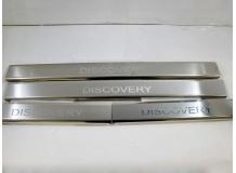 Накладки на пороги Land Rover Discovery 3 /2004-2009/. Накладки порогов Лэнд Ровер Дискавери [NataNiko]