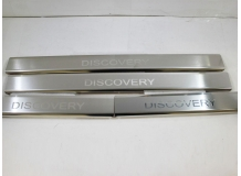 Накладки на пороги Land Rover Discovery 4 /2009+/. Накладки порогов Лэнд Ровер Дискавери [NataNiko]