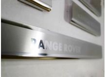 Накладки на пороги Land Rover Range Rover 3 /2002-2012/. Накладки порогов Рендж Ровер [NataNiko]
