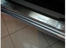 Накладки на пороги Mitsubishi Grandis I /2003-2012/. Накладки порогов Мицубиси Грандис [NataNiko]