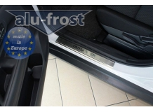 Накладки на пороги Mitsubishi Outlander III /2012+/. Накладки порогов Мицубиси Аутлендер 3 [Alu-Frost]