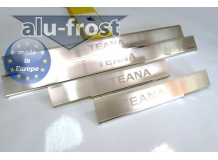 Накладки на пороги Nissan Teana J32 /2008-2013/. Накладки порогов Ниссан Теана [Alu-Frost]