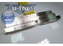 Накладки на пороги Nissan X-Trail T30 /2001-2007/. Накладки порогов Ниссан ИксТрейл [Alu-Frost]