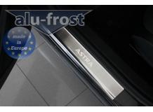 Накладки на пороги Opel Astra J /2009-2015/. Накладки порогов Опель Астра [Alu-Frost]