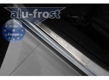 Накладки на пороги Opel Insignia A /2008-2017/. Накладки порогов Опель Инсигния [Alu-Frost]