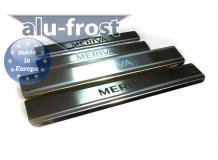 Накладки на пороги Opel Meriva A /2003-2010/. Накладки порогов Опель Мерива [Alu-Frost]