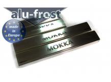 Накладки на пороги Opel Mokka /2012+/. Накладки порогов Опель Мокка [Alu-Frost]