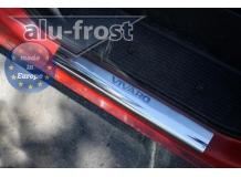 Накладки на пороги Opel Vivaro I /2001-2014/. Накладки порогов Опель Виваро [Alu-Frost]