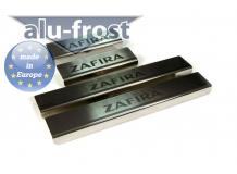 Накладки на пороги Opel Zafira C Tourer /2012+/. Накладки порогов Опель Зафира Турер [Alu-Frost]