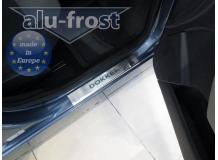 Накладки на пороги Renault Dokker /2012+/. Накладки порогов Рено Доккер [Alu-Frost]