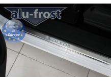 Накладки на пороги Renault Koleos I /2008-2016/. Накладки порогов Рено Колеос [Alu-Frost]
