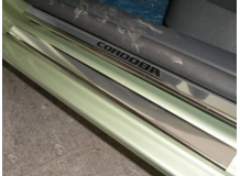 Накладки на пороги Seat Cordoba II (6L) /5D, 2002-2009/. Накладки порогов Сеат Кордоба [NataNiko]