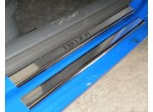 Накладки на пороги Seat Ibiza III (6L) /3D, 2002-2008/. Накладки порогов Сеат Ибица [NataNiko]