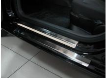 Накладки на пороги Seat Ibiza IV (6J) /3D, 2008+/. Накладки порогов Сеат Ибица [NataNiko]