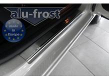 Накладки на пороги Seat Leon III (5F) /3D, 2012+/. Накладки порогов Сеат Леон [Alu-Frost]