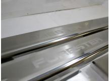 Накладки на пороги Subaru Forester III (SH) /2008-2013/. Накладки порогов Субару Форестер [NataNiko]
