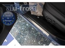 Накладки на пороги Subaru Forester IV (SJ) /2012+/. Накладки порогов Субару Форестер [Alu-Frost]
