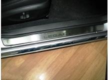 Накладки на пороги Subaru Legacy IV /2003-2009/. Накладки порогов Субару Легаси [NataNiko]
